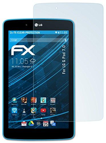 atFolix Schutzfolie kompatibel mit LG G Pad 7.0 Folie, ultraklare FX Bildschirmschutzfolie (2X)