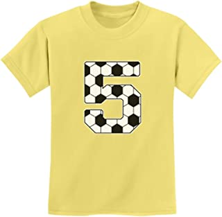 Tstars - Soccer 5th Birthday Gift for 5 Year Old Youth Kids T-Shirt