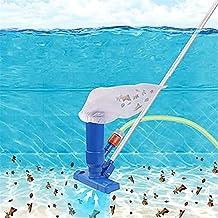 woyada Kits de herramientas para aspiradora de piscina, mini aspiradora portátil accesorios de limpieza de piscina con 5 secciones de poste y cepillo,