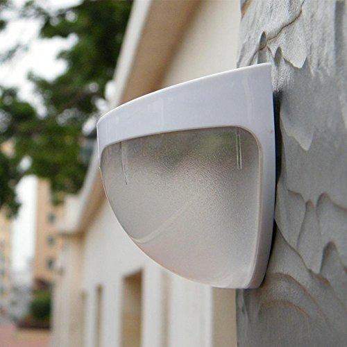 Lampe Murale Solaire à L'ExtéRieur ImperméAble L'Eau 6Led éClairage LumièRe Du Capteur Accueil LumièRes De Jardin