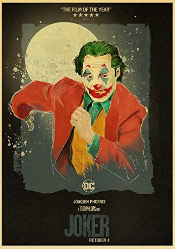 Frameloos Joaquin Phoenix Joker s Wall Art ng Print op koffie Retro Poster foto's Halloween Home Decor50x75cm