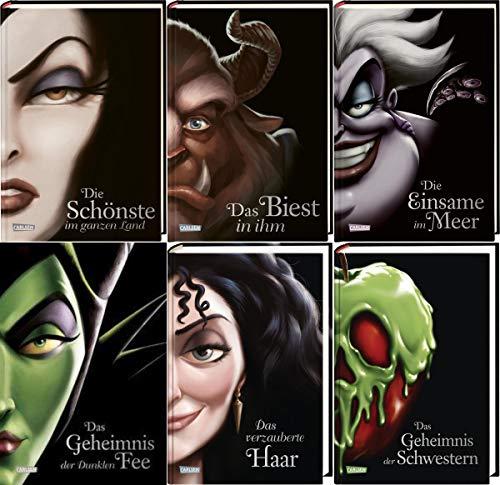 Disney Villains 6 Bände im Set plus 1 exklusives Postkartenset (Gebundene Ausgab...