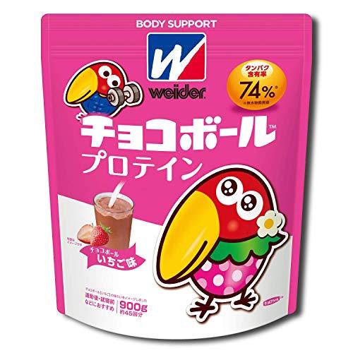 [Amazon限定ブランド]BODY SUPPORT W ウイダー チョコボールプロテイン チョコボールいちご味 900g (約45回...