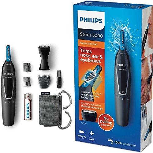Philips NT5171 / 15 Batteriebetriebene Serie 5000 Nasen-, Ohren-, Augenbrauen- und Siderburns-Trimmer