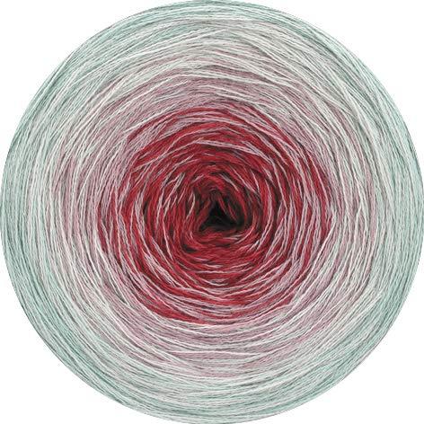 Lana Grossa - Shades of Cotton - Fb. 116 hellgrau/ecru/rosa/dunkelrot 200 g