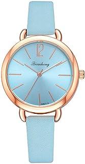 wall clock, Women's Wrist Watches Ladies Series Girls Watch Female for Women Candy Color Watch Belt Ladies Quartz Watch,Co...