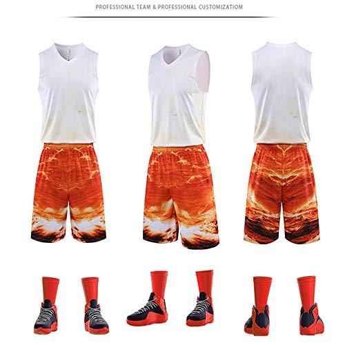 LHDDD NBA Baloncesto Uniformes Trajes de Entrenamiento Personalizados, Trajes de competición, Transpirables y de Secado rápido Sudadera Transpirable Camiseta Deportiva de Verano 8-XL
