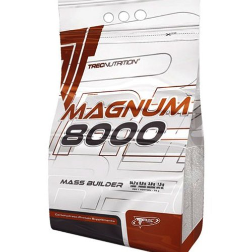 "Magnum 8000 Mass Weight Builder - 1.0kg (strawberry) - Massive increase in body weight - Advanced "" HARD GAINER "" (13% protein) with creatine and MCT oil - Trec Nutrition"