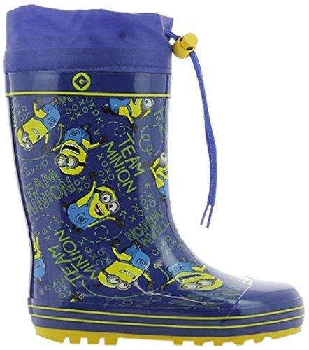 MINIONS Jungen Boys Kids Boots Rainboots Gummistiefel, Blau (Blue), 25 EU