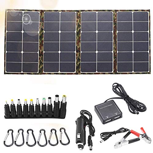 120W Foldable Solar Panel Charger Kit for Portable Generator Power Station, Cell Phone and Laptop Power, Trailer Camper RV, Boat (Dual 5V USB &18V DC Output)