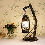 220V Ingeniously Retro Laterne Petroleumlampe Kreative Ornamente Wandleuchte f/ür drinnen und drau/ßen Barbecue Camping Nachtlicht Tischlampe f/ür Bar Cafe Shop