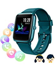 Fitness Tracker met hartslagmeter, Smart Watch, Smartwatch Vrouwen Mannen Kids Waterdicht IP68 GPS Activity Tracker, Stappenteller, Slaapmonitor, Stopwatch, Calorie teller, 1,3 inch Touchscreen