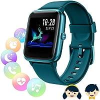 Montre Connectée Femmes Homme, Montre connectée Enfant,Smartwatch Tactile Bracelet Connecté Etanche Sport Podometre...