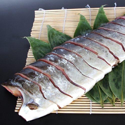 【お取り寄せグルメ】塩引き鮭 切り身 半身 姿造り×3点セット/村上の塩引鮭はご贈答にも最適