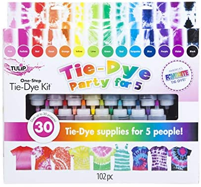 Tulip One-Step Tie-Dye Kit 15-Color Party Kit, Standard, Rainbow