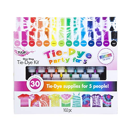 Tulip One-Step Tie-Dye Kit 15-Color Party Kit, Standard, Rainbow