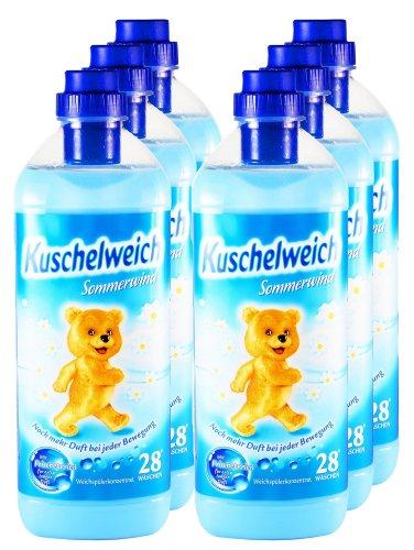 Kuschelweich 6er Vorteilspack Weichspüler Sommerwind 6000 ml für 168 Anwendungen