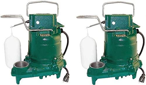 Zoeller M53 Mighty-mate Submersible Sump Pump, 1/3 Hp (2)