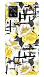 Aarfa Hard Plastic 3D Printed Yellow Flower Mobile Back Cover Cases for Vivo V20