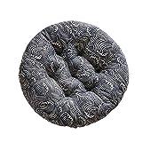 Vommpe Coussin Galette de Chaise Ronde Siège Tatami Salle À Manger Canapé Dossier Tabouret Sol Épaississement Oreiller Coton Et Lin