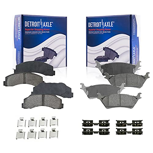 Detroit Axle - Front and Rear Ceramic Brake Pads Replacement for 2012-2017 Ford F-150 - 4pc Set