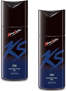 KamaSutra Deodorant Body Spray For Men, 150 ml - (On-On) Pack of 2
