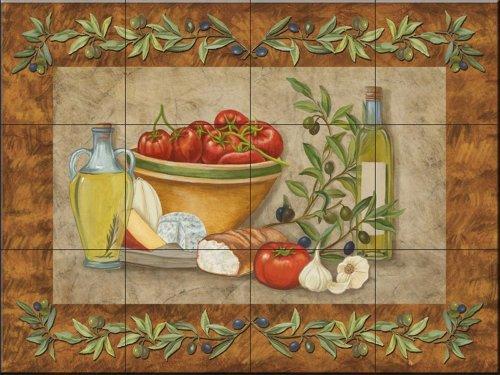 Keramik Fliesen - Toskana Treats I von Mary Lou Troutman - Küche Aufkantung Fliesen/Badverkleidung