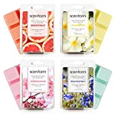 SCENTORINI Wax Melts, Scented Wax Melts, Wax Cubes, Scented Soy Wax Melts, 4x2.5 oz
