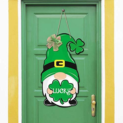 Huray Rayho St. Patrick's Day Zwerg Türschild aus Holz Willkommens-Türhänger für...