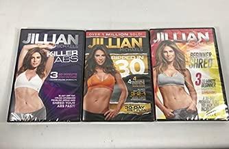 Fit For Life 3 Pack DVD Set Jillian Michaels Killer Abs, Beginners Shred, Ripped in 30