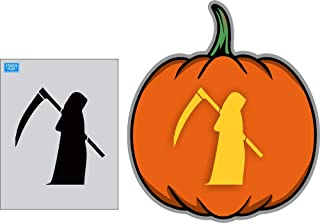 Halloween Grim Reaper Side View Reusable Stencil/Seasonal/Holiday/Halloween Stencil
