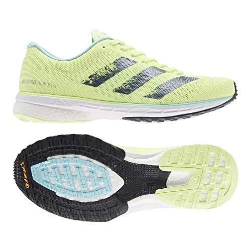 adidas Adizero Adios 5 W, Zapatillas para Correr Mujer, Hi Res Yellow Crew Navy Clear Aqua, 44 EU