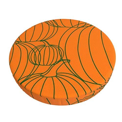 Round Bar Stools Cover,Halloween Hintergrundlinie Kürbis,Stretch Chair Seat Bar Stool Cover Seat Cushion Slipcovers Chair Cushion Cover Round Lift Chair Stool