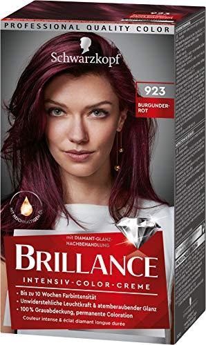 Brillance Intensiv-Color-Creme Haarfarbe 923 Burgunderrot Stufe 3, 3er Pack(3 x 160 ml)