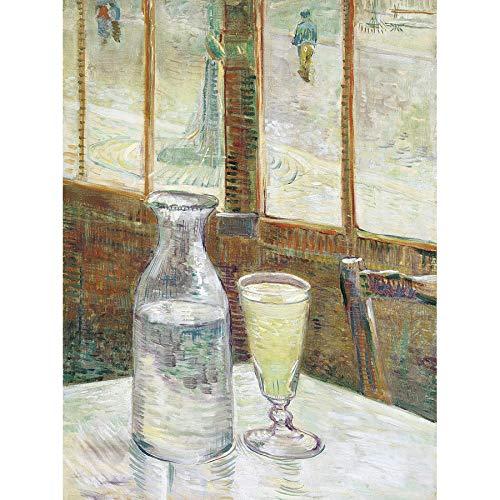 Póster de Vincent Van Gogh Cafetafel Met Absint sin marco para la...