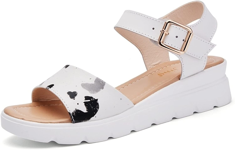 MET RXL Lady,Summer,Flat Sandals Middle Heels,Non-Slip Sandals