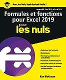 Formules et fonctions pour Excel 2019 pour les Nuls
