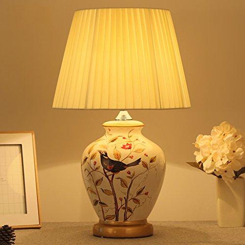 céramique impression lampe de table grand Liseuse Lampes de chevet Lumières de chambre ambiante Lumière d'humeur A+ (Color : C)