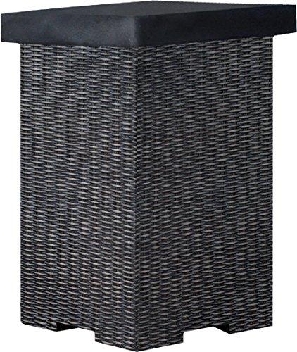 Clifton Gasflaschenbehälter Rattan Dark