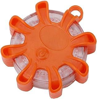 Remifa LED wiederaufladbare Warnleuchte-Warnblinkleuchte 9 Leuchtmodi Orange f/ür Pannenhilfe oder Unfall-3 St/ücke//Orange LED-Pannenleuchte mit Magnet