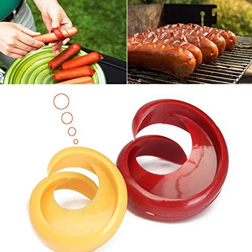 Xiton 2ST New Cyclone Barbecue Wurstschneider Küchenhelfer Spiral Hot Dog Schneider Startseite DIY Currywurstschneider Gadget