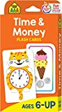 School Zone - Time & Money Flash Cards - Ages 6 and Up, 1st Grade, 2nd Grade, Telling Time, Reading Clocks, Counting Coins, Coin Value, Coin Combinations, and More