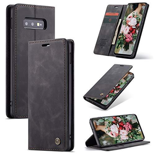 FMPC Cover Compatibile Samsung Galaxy S10E, Libretto in Pelle di qualità Superiore con Slot Custodia Protettiva Magnetica Flip Cover Bumper Portafoglio Fondina...