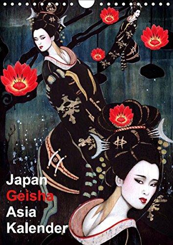 Geisha Asia Japan Pin-up Kalender (Wandkalender 2019 DIN A4 hoch): Asiatische Geisha Zeichnungen im Burlesque Stil (Monatskalender, 14 Seiten )