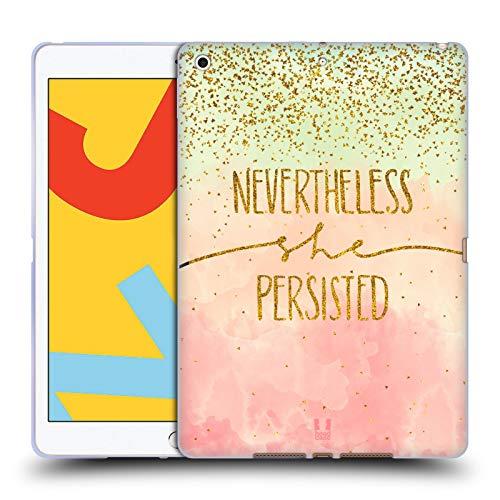 Head Case Designs No obstante Cotizaciones de Oro Carcasa de Gel de Silicona Compatible con Apple iPad 10.2 (2019)/(2020)