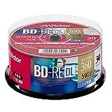 ビクター Victor くり返し録画用 BD-RE VBE260NP30SJ1 (片面2層/1-2倍速/30枚) ホワイト