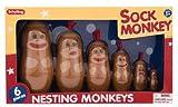 Sock Monkey Nesting (Russian) Dolls by Schylling