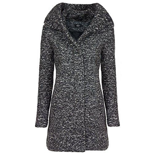 ONLY Damen onlINDIE NOMA Wool Coat CC OTW Mantel, Grau (Dark Grey Melange), 36 (Herstellergröße: S)