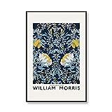 Carteles e impresiones de la exposición de imágenes de arte de pared floral con estampado floral único de William Morris pinturas de lienzo sin marco de la familia A4 15x20cm