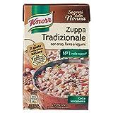 Knorr Zuppa Tradizionale con Orzo, Farro e Legumi, 2 x 500ml